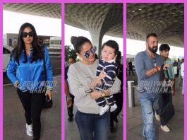 Sridevi, Sanjay Dutt and Kareena Kapoor brighten up airport lobby