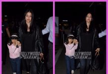 Aishwarya Rai Bachchan photographed with daughter Aaradhya at Mumbai airport
