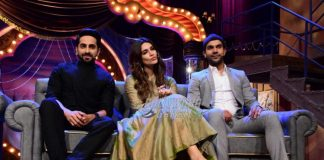 Photos – Bareilly Ki Barfi promotions on The Drama Company with Ayushmann, Kriti & Rajkumar Rao!