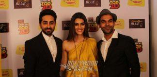 Photos – Ayushmann Khurrana, Kriti Sanon, Rajkummar Rao promote Bareilly Ki Barfi in style!