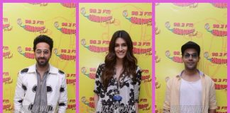 Photos – Ayushmann Khurrana, Kriti Sanon, Rajkummar Rao promote Bareilly Ki Barfi at Radio Mirchi!