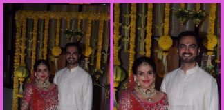 A radiant mum-to-be Esha Deol and Bharat Takhtani get remarried on Baby Shower day