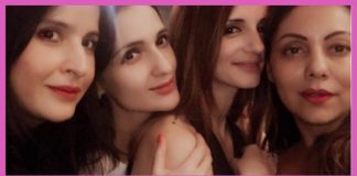 Susanne Khan, Gauri Khan and Preity Zinta came together for an all girls' party night