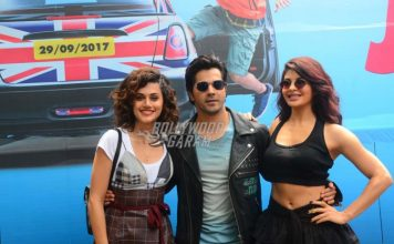 Varun Dhawan, Jacqueline Fernandez and Taapsee Pannu launch trailer of Judwaa 2