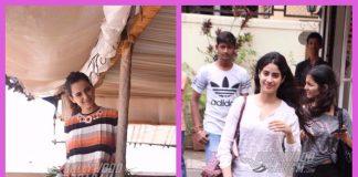Kangana Ranaut and Jhanvi Kapoor all smiles when clicked at work