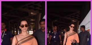 Kangana Ranaut photographed returning from an event in Delhi