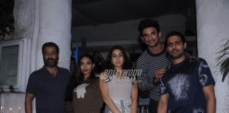 Team Kedarnath dines and poses together for the shutterbugs
