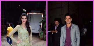 Farhan Akhtar and Diana Penty promote Lucknow Central on the sets of Comedy Dangal