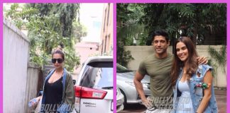 Malaika Arora, Farhan Akhtar and Neha Dhupia photographed at work