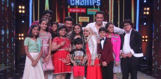 Sunny Deol and Bobby Deol promote Poster Boys on the sets of Sa Re Ga Ma Pa Li'l Champs