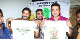 Shreyas Talpade, Bobby Deol unveil limited edition Poster Boys T-shirts! – Photos