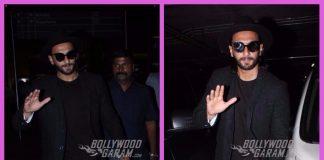 Ranveer Singh makes a black splash at the airport