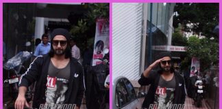 Ranveer Singh looks dapper post a hardcore gym session