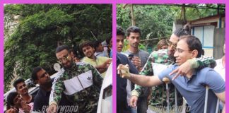 Ranveer Singh mobbed by fans post workout