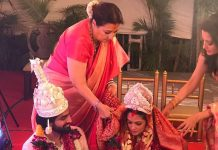 Raima Sen shares sister Riya Sen's wedding picture