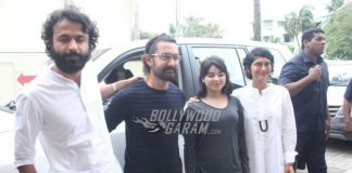 Aamir Khan, Kiran Rao and Zaira Wasim grace the private trailer launch of Secret Superstar