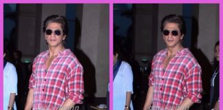 Shah Rukh Khan photographed as he heads towards a promotional event