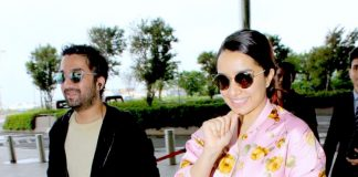Celebrity airport fashion –  Shraddha Kapoor and Siddhanth Kapoor look suave!