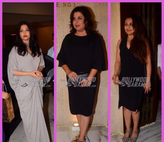 Rani Mukherji, Aishwarya Rai Bachchan and others grace Sridevi's birthday bash