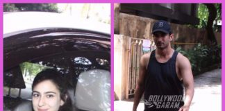 Sara Ali Khan and Sushant Singh Rajput photographed at Abhishek Kapoor's house