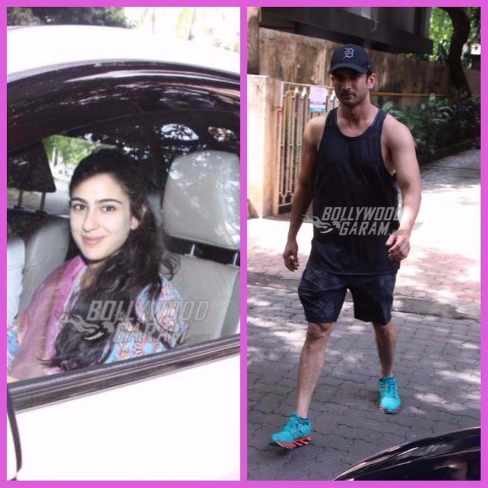 Sushant Singh and Sara Ali Khan