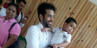 Tusshar Kapoor shares picture of son Laksshya's first day at pre-school