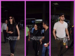 Sidharth Malhotra, Kalki Koechlin and Genelia D'Souza keep it casual at the airport