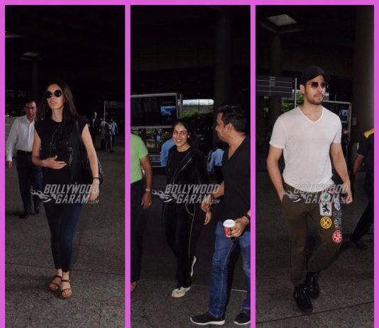 Sidharth Malhotra, Kalki Koechlin and Genelia D'Souza keep it casual at the airport