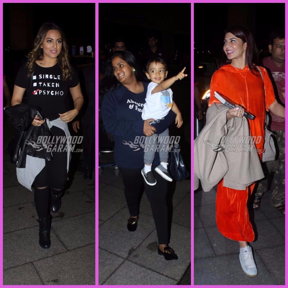 Sonakshi Sinha, Arpita Khan, Jacqueline Fernandez snapped leaving for London - PHOTOS inside