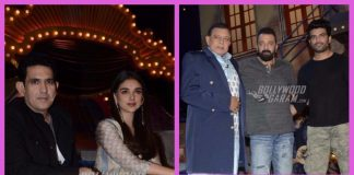 Sanjay Dutt, Aditi Rao Hydari and Omung Kumar promote Bhoomi on the sets of The Drama Company