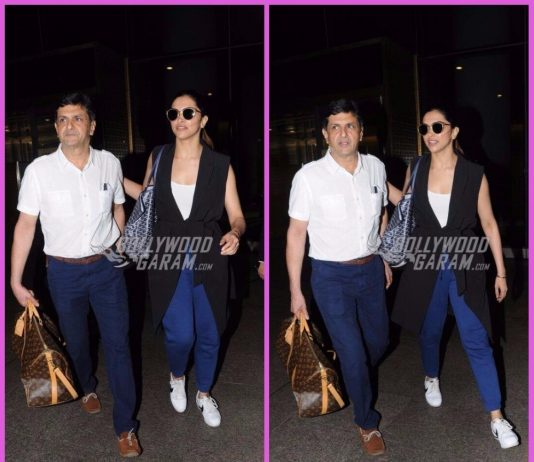 Photos: Deepika Padukone snapped with father Prakash Padukone at airport