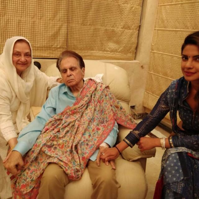 After SRK, Priyanka Chopra spends time with Dilip Kumar & Saira Banu