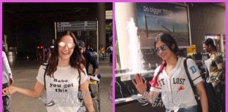 Elli AvrRam and Adah Sharma make a happy appearance at airport – PHOTOS