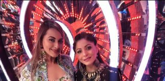 Singer Kanika Kapoor dazzles with co-judge Sonakshi Sinha in Masaba Gupta outfit at reality show Om Shanti Om