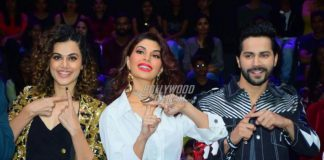 Photos: Jacqueline Fernandez, Varun Dhawan and Taapsee Pannu promote Judwaa 2 on sets of Dance Plus 3