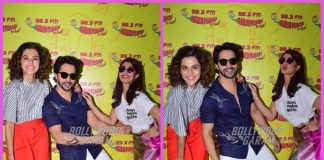 Photos: Varun Dhawan, Taapsee Pannu and Jacqueline Fernandez promote Judwaa 2 at Radio Mirchi Studios