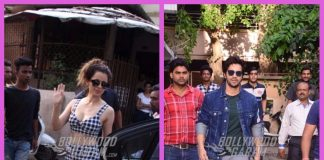 Kangana Ranaut and Varun Dhawan snapped on a busy Monday