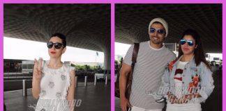 Gurmeet Choudhary, Debina and Karisma Kapoor make a stylish appearance at the airport