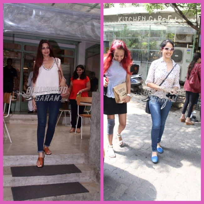 Sonali Bendre And Genelia Deshmukh Clicked Outside Kitchen
