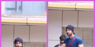 A beefed-up Ranbir Kapoor snapped post dance rehearsals