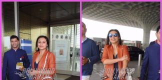 Rani Mukherji makes a cheerful appearance at airport – PHOTOS
