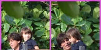 Shah Rukh Khan and AbRam greet fans on Eid at Mannat