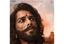 Shahid Kapoor shares first look as Rawal Ratan Singh in Padmavati