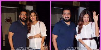 Shilpa Shetty and Raj Kundra snapped post dinner at a popular restaurant