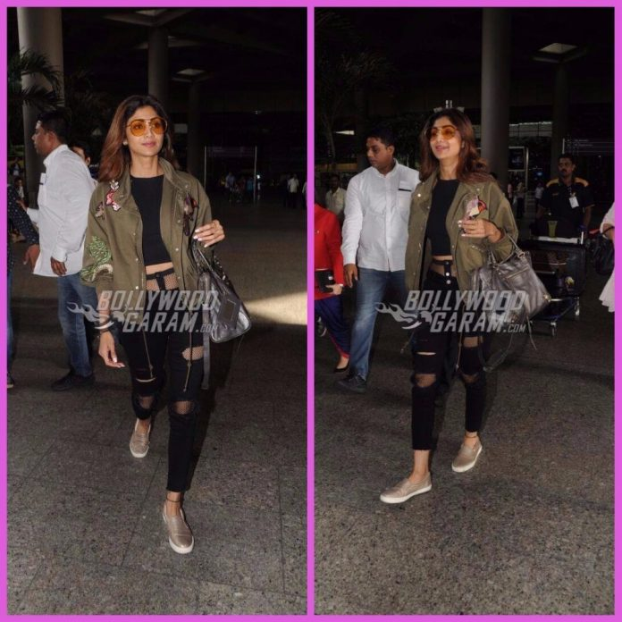Shilpa shetty airport