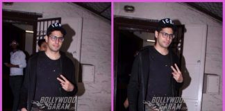 Sidharth Malhotra smiles and poses outside a dubbing studio – PHOTOS