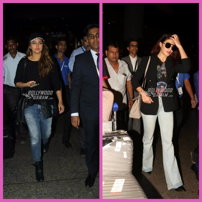 Sonakshi and Jacqueline_AIrport
