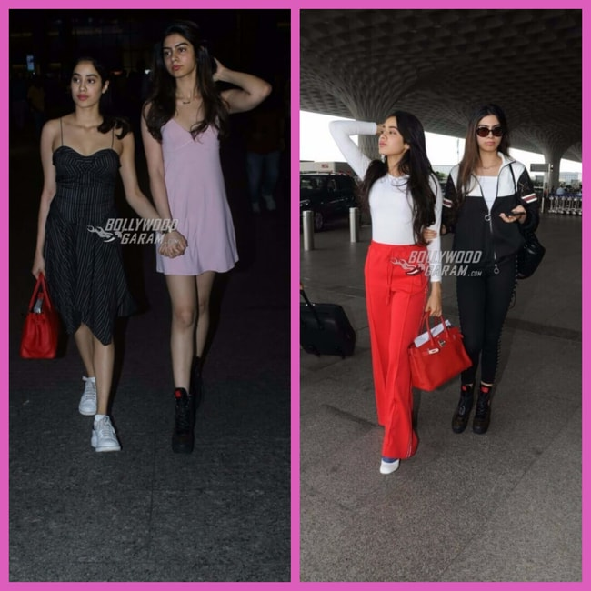 Sridevi daughters at airport