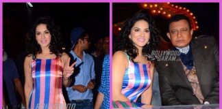 Sunny Leone promotes Bhoomi song on sets of The Drama Company – PHOTOS