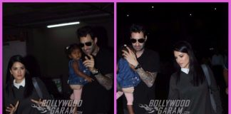 Photos: Sunny Leone and husband Daniel Weber snapped with daughter Nisha at airport